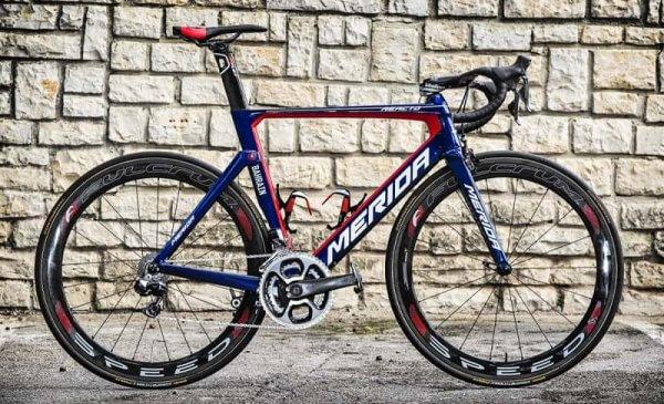 Ecco la bici da corsa di Vincenzo Nibali: la Merida ha messo a disposizione del campione siciliano tre modelli: qui vediamo la Reacto