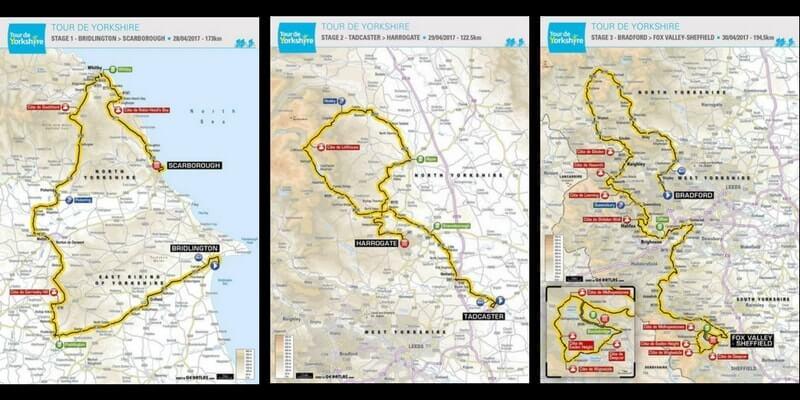 Anteprima della terza edizione del Tour De Yorkshire 2017 corsa a tappe che si corre nella contea Inglese: percorso, tappe e start list.