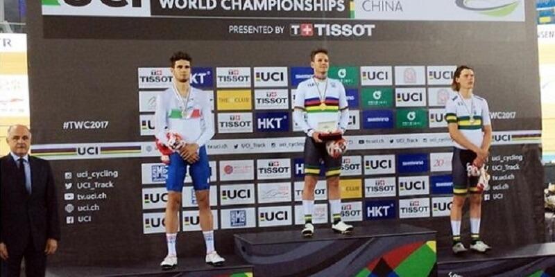 Filippo Ganna argento ai Mondiali su Pista Honk Kong 2017