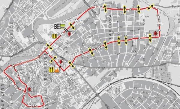 Gran Premio di Tartu seconda tappa del Giro dell'Estonia - Planimetria