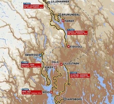 Giro di Norvegia 2017 - Percorso