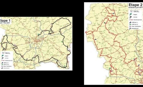 Giro del Lussemburgo 2017- Planimetrie tappe 1 e 2