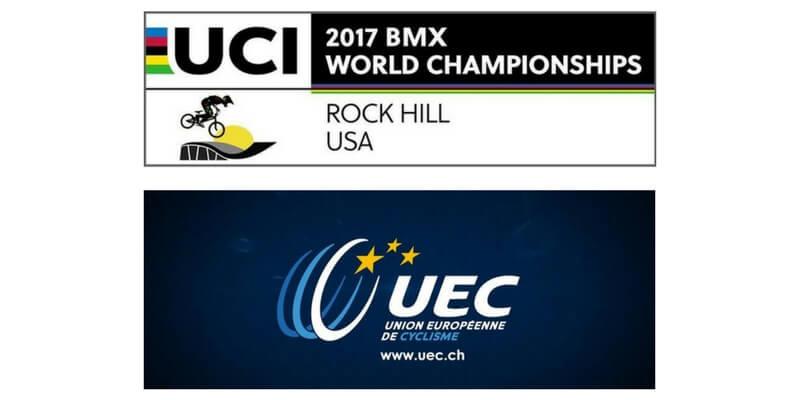 Presentazione Campionati Europei e Mondiali BMX 2017 in programma a Luglio: a Bordeaux (FRA) gli Europei e a Rock Hill (USA) i mondiali.