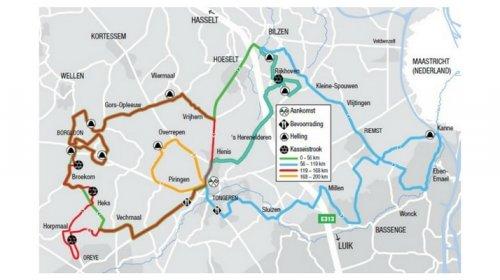 Ronde Van Limburg 2017 percorso