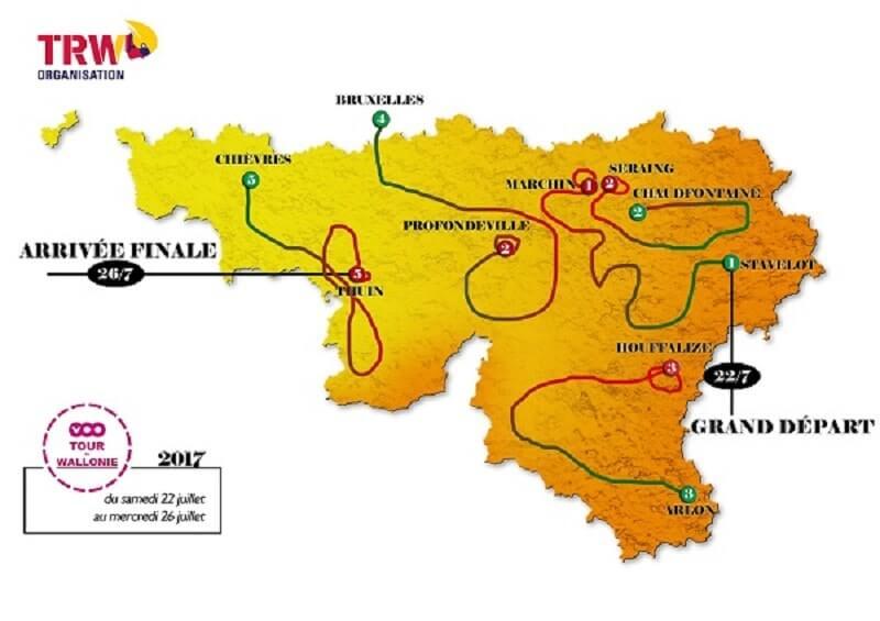 Giro di Vallonia 2017 tappe percorso e start list