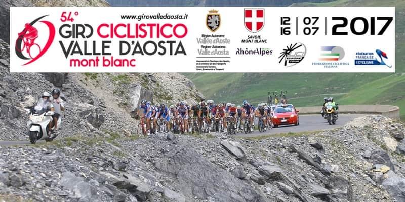 Giro Ciclistico Valle d'Aosta Mont Blanc 2017 tappe percorso e start list