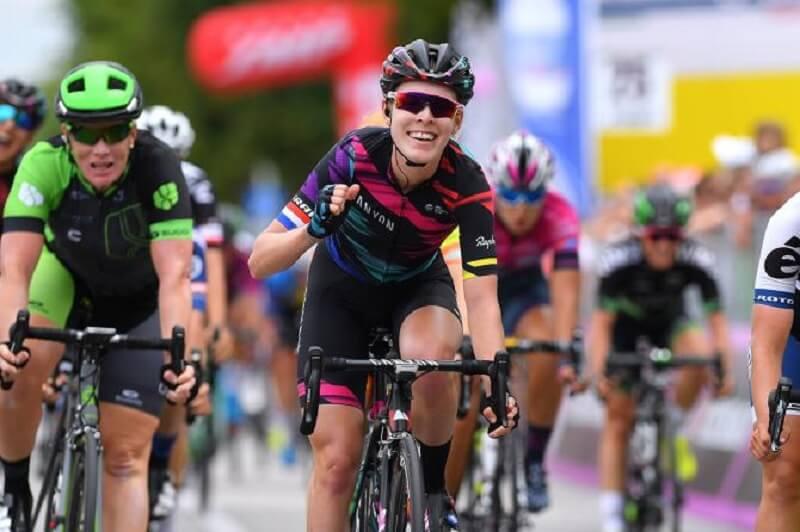 Giro Rosa 2017 tappa 3 vittoria in volata per la Barnes a San Vendemiano