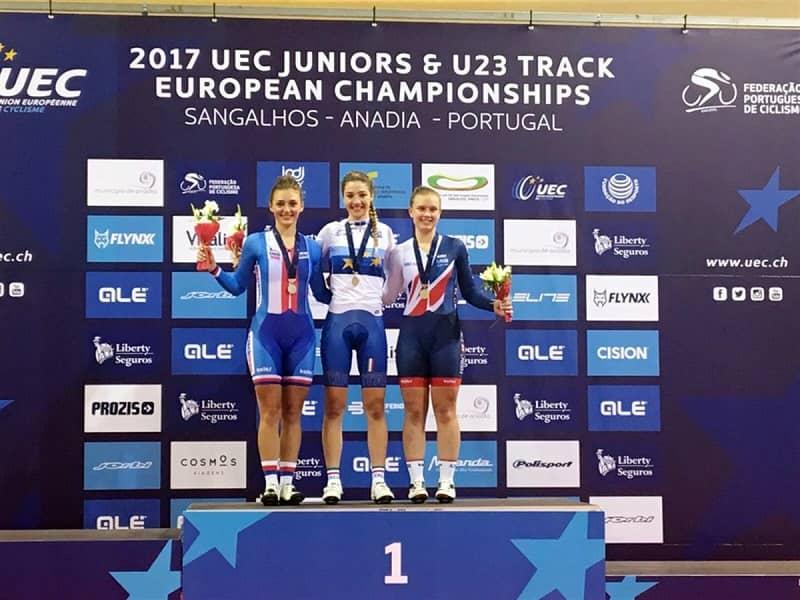 Martina Fidanza nello scratch donne juniores ha vinto la medaglia più ambita, l'oro