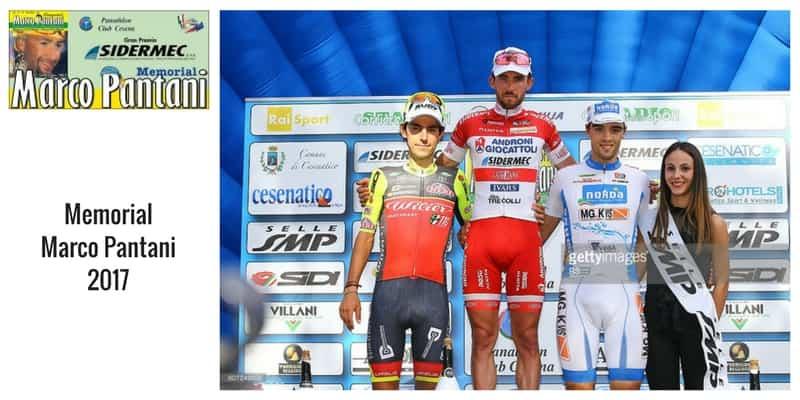 Memorial Marco Pantani 2017 - il podio della scorsa edizione