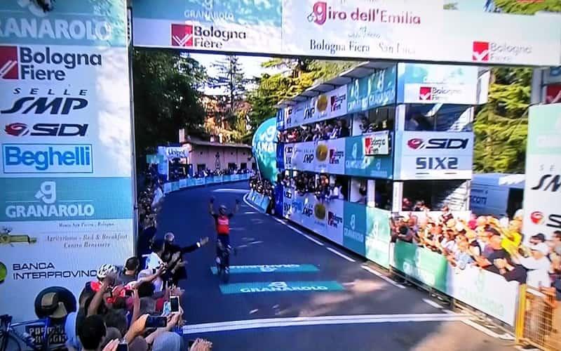 Giro dell'Emilia 2017 vittoria di Giovanni Visconti