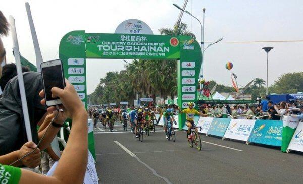 Tour of Hainan 2017 tappa 4: terzo centro per Mareczko!