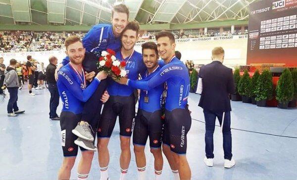 Coppa del Mondo Pista Pruszkòw: vince l'oro anche il quartetto azzurro, altri due bronzi!