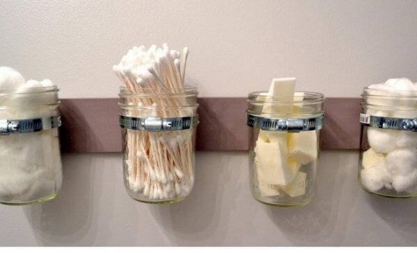 idee fai da te con barattoli di latta e vasi di vetro