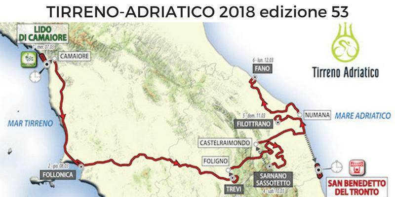 Tirreno Adriatico 2018: percorso, tappe, altimetrie e start list
