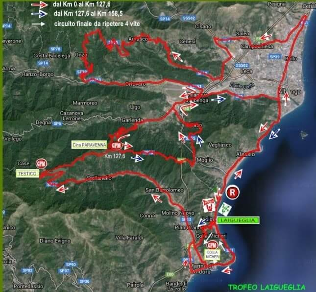 Trofeo Laigueglia 2018 percorso