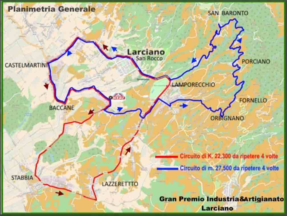 GP Artigianato & Industria 2018 -Planimetria