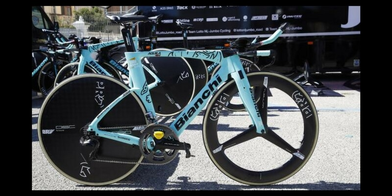 Bici Crono Bianchi Aquila CV: edizione speciale Tirreno Adriatico 2018