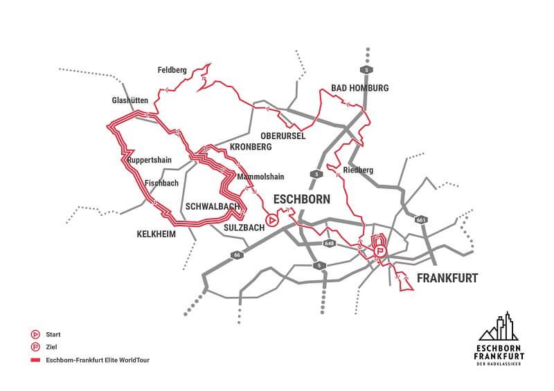 Eschborn-Frankfurt 2018 - Gran Premio di Francoforte - Planimetria