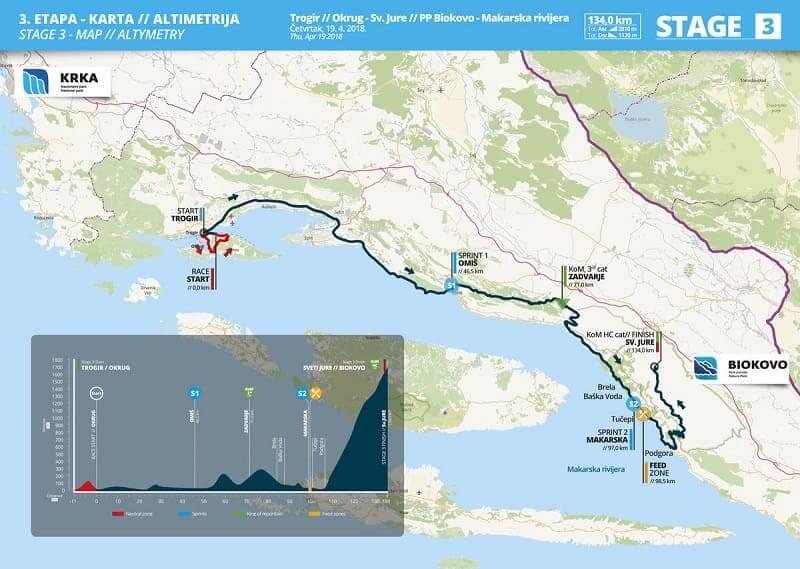 Tappa 3 - 19.4. Trogir - PP Biokovo - 134 km