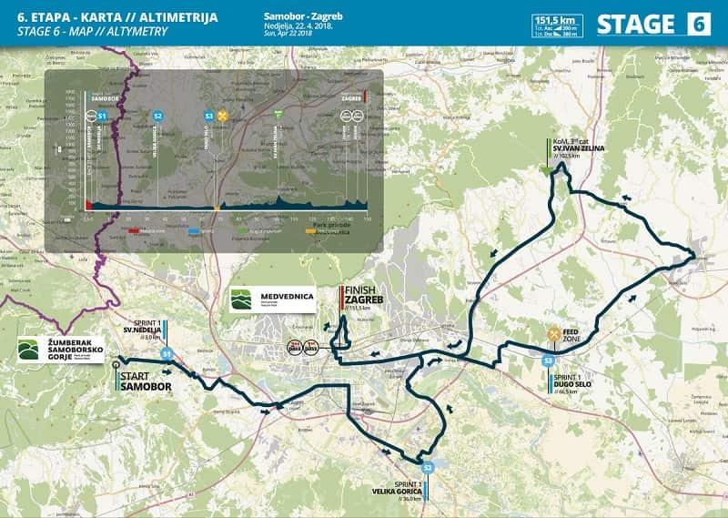 Tappa 6 - 22.4. Samobor - Zagabria - 151.5 km