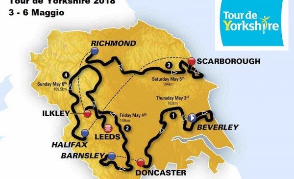 Tour de Yorkshire 2018: tappe, percorso, altimetrie e start list