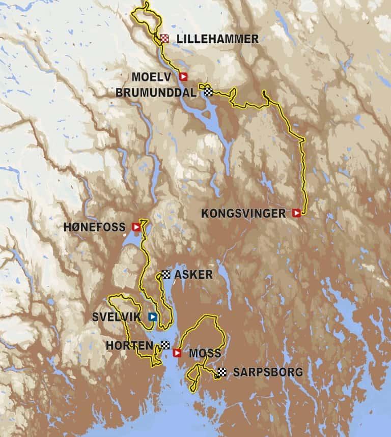 Tour of Norway 2018: il percorso