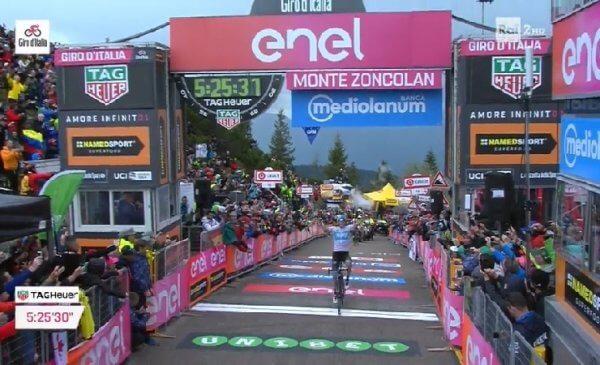 Giro 101 tappa 14 sullo Zoncolan Froome ritrova la vittoria, Pozzovivo terzo!