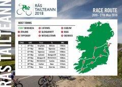 Rás Tailteann 2018 percorso, tappe con altimetrie e start list