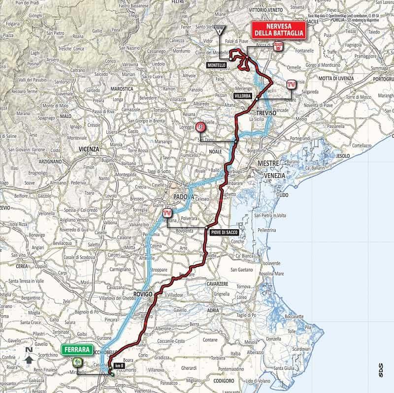 Giro d'Italia 2018 presentazione tappa 13 - Planimetria