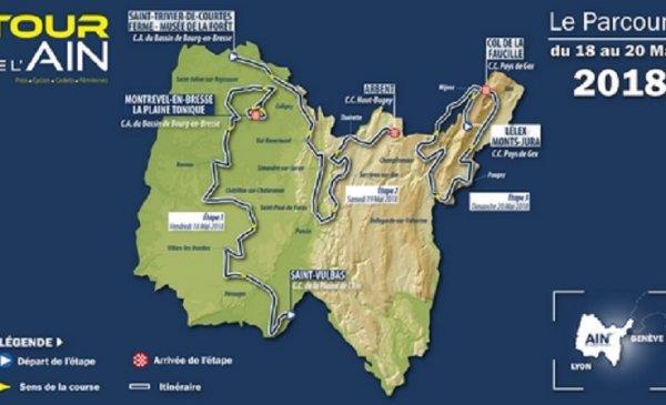 Tour de l'Ain 2018 tappe, percorso, altimetrie e start list