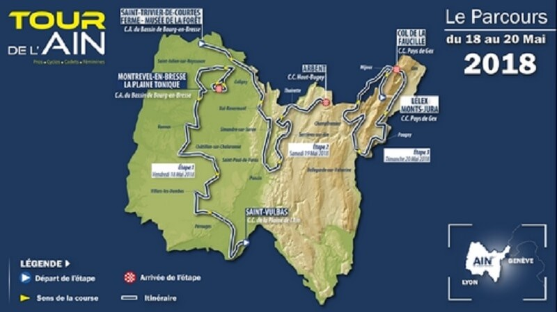 Tour de l'Ain 2018 tappe, percorso, altimetrie e start list