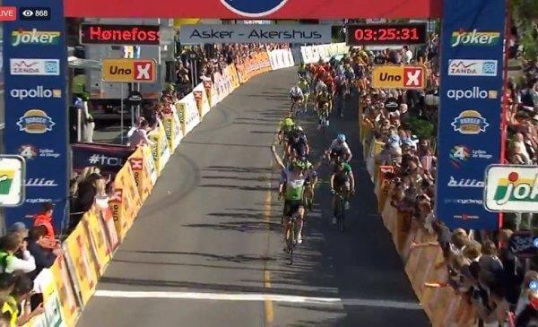 Giro di Norvegia tappa 2 Boasson Hagen festeggia con la vittoria il suo compleanno