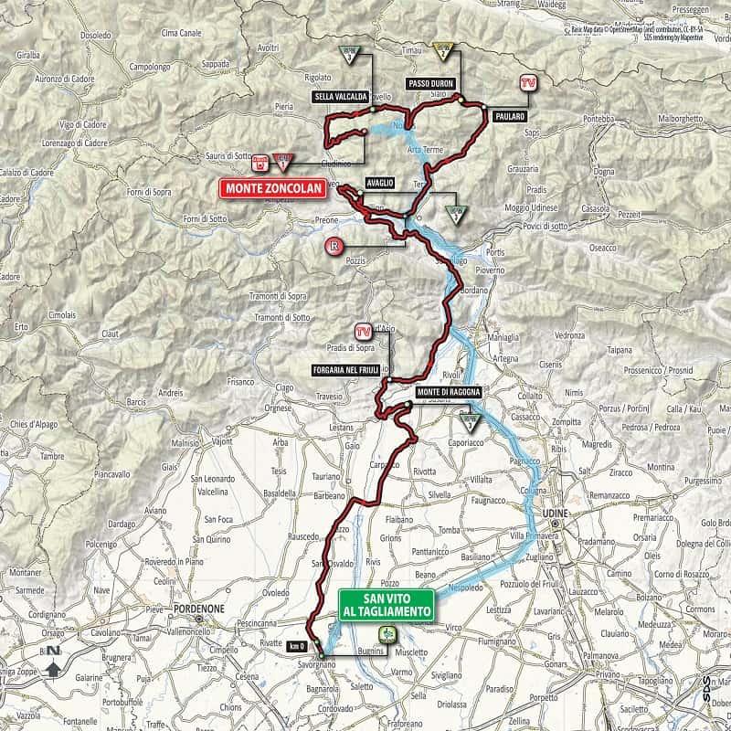 Giro d'Italia 2018 Tappa 14 Planimetria