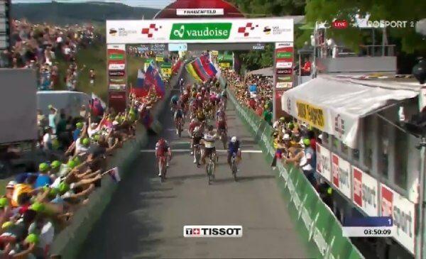 Sagan batte Gaviria nella prima volata al Giro di Svizzera 2018