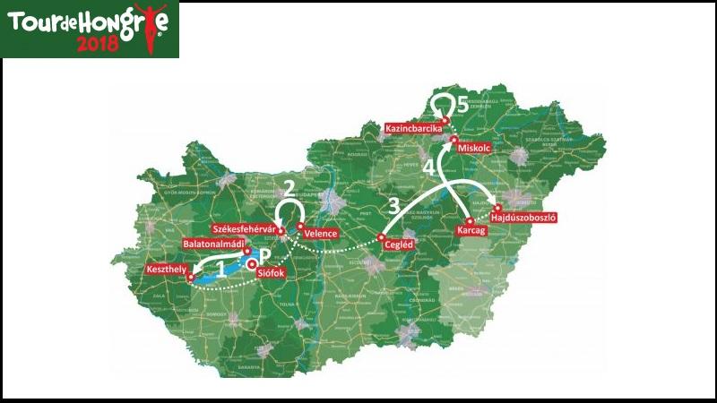 Giro di Ungheria 2018: percorso, altimetrie e start list