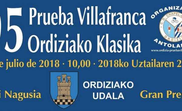 Prueba Villafranca de Ordizia – Clasica de Ordizia 2018 Antperima