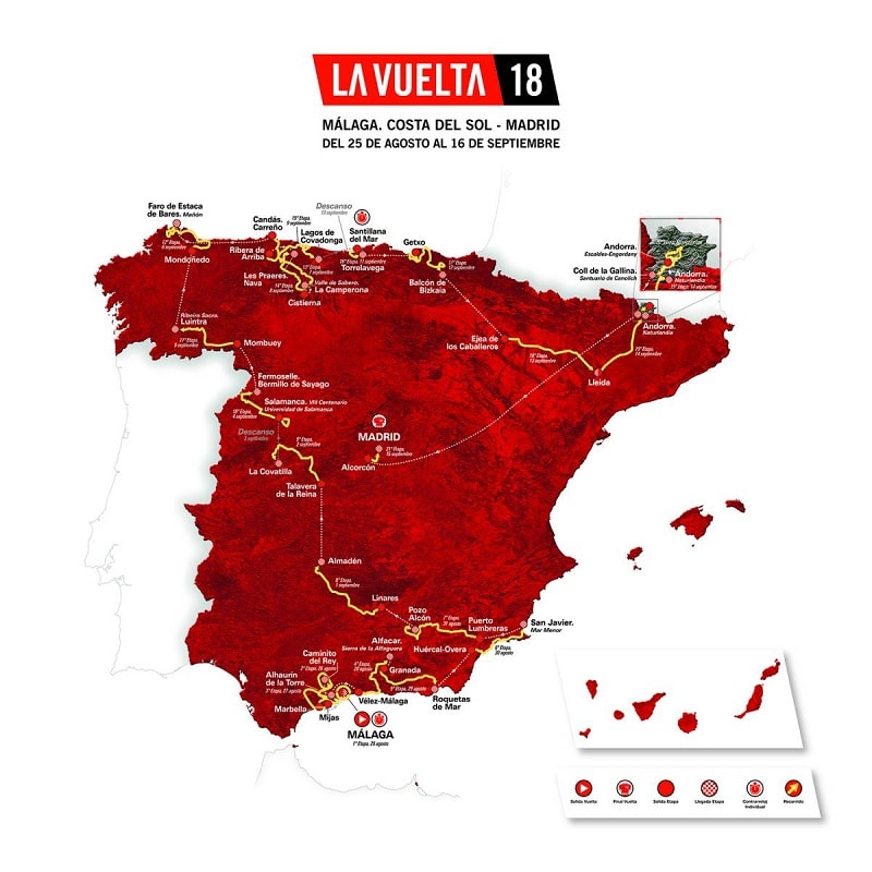 La Vuelta 2018 tutte le classifiche