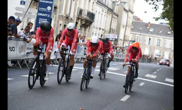 Tour de l´Avenir 2018 tappa 4 alla Danimarca la Crono a Squadre