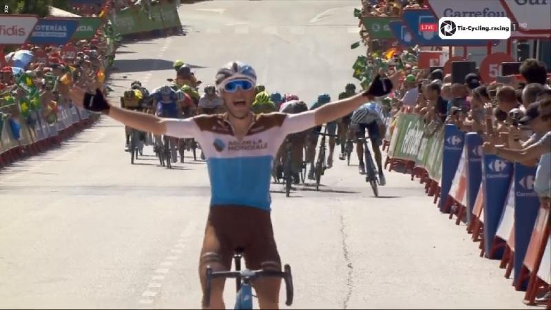Vuelta 2018 tappa 7 Assolo di Gallopin, Molard ancora in Maglia Rossa