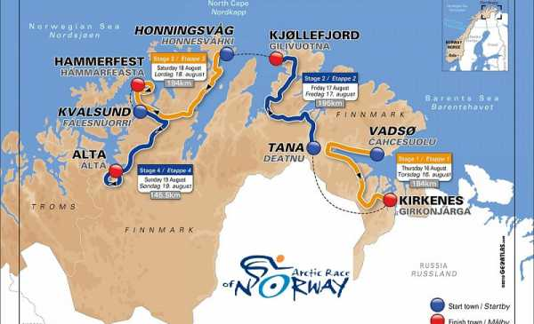 Arctic Race of Norway 2018 tappe, percorso, altimetrie e start list