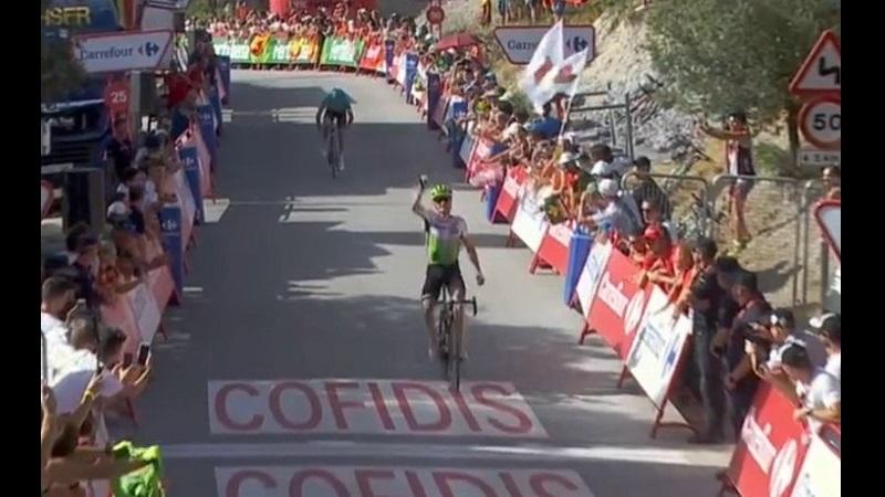 La Vuelta 2018 tappa 4: la fuga va in porto e vince King. Kwiatkowski ancora in Maglia Rossa