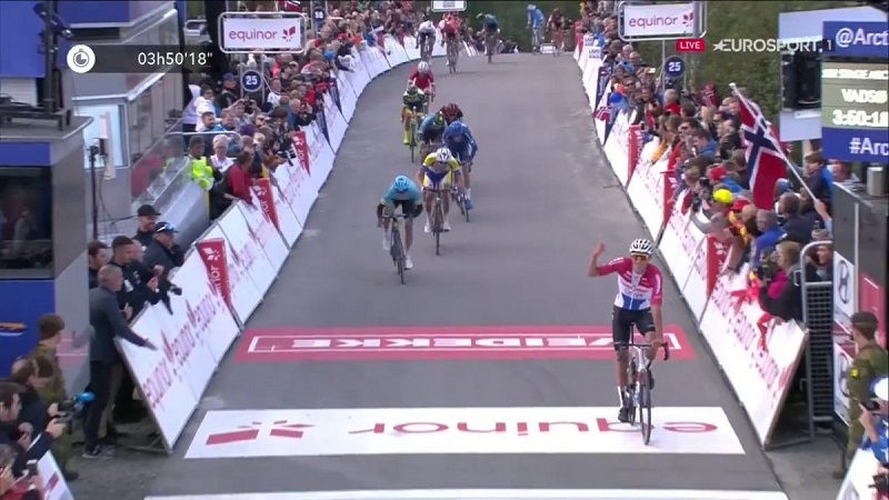 Arctic Race of Norway 2018 tappa 1 vittoria per Mathieu van der Poel, sesto Bettiol