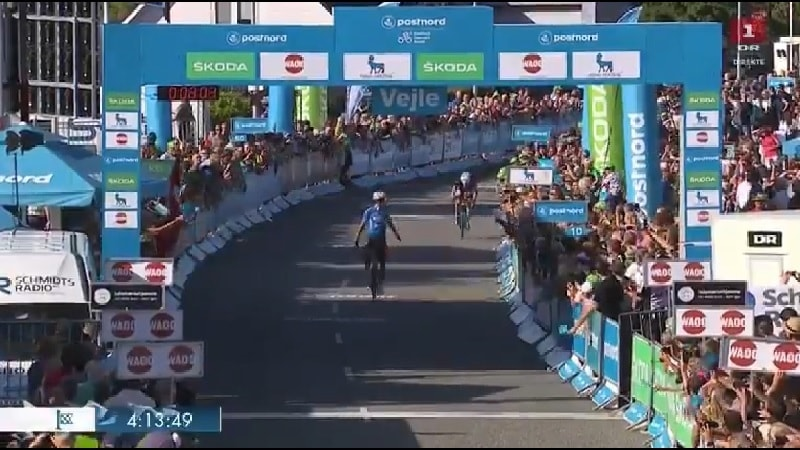 Giro di Danimarca 2018 Wout van Aert si impone nella 2^ tappa