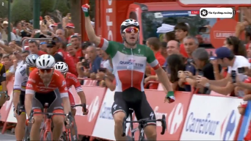 Viviani mattatore anche in Spagna: sua la volata ad Alhaurín  per la 3^ tappa della La Vuelta 2018