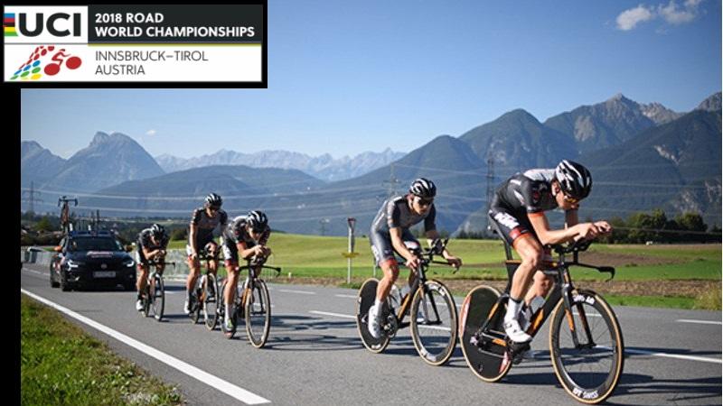 Mondiali di Insbruck cronometro a squadre maschile percorso e start list