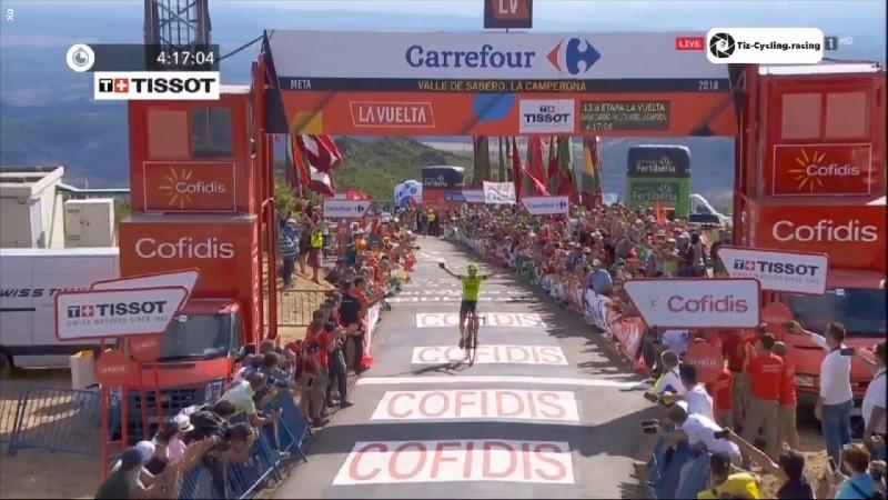 La Vuelta 2018 tappa 13 Rodriguez vince sul Camperona, Herrada ancora leader