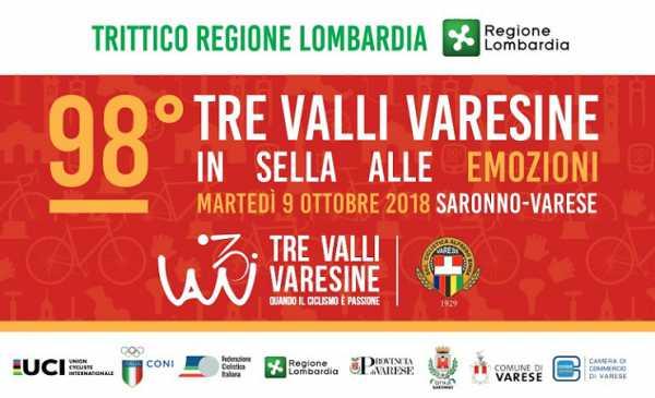 Tre Valli Varesine 2018 percorso, diretta TV, start list dell'edizione numero 98