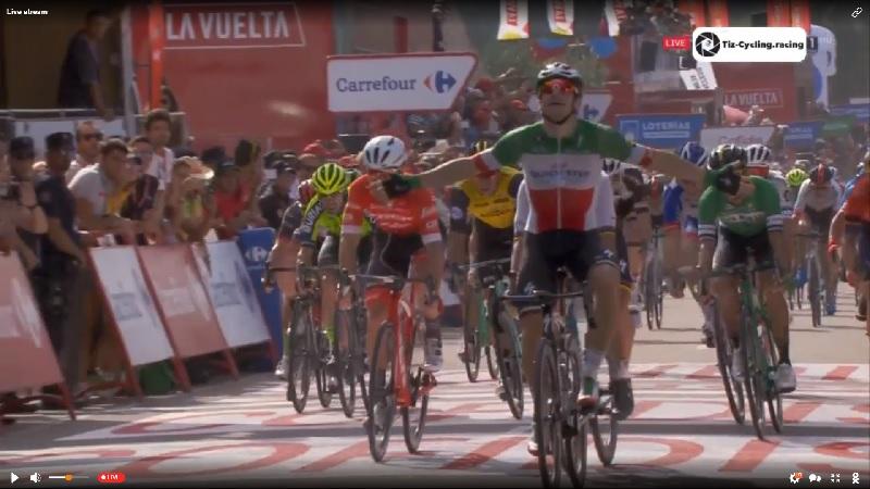 Vuelta 2018 tappa 10 bis di Viviani! Sagan 2° e poi Nizzolo