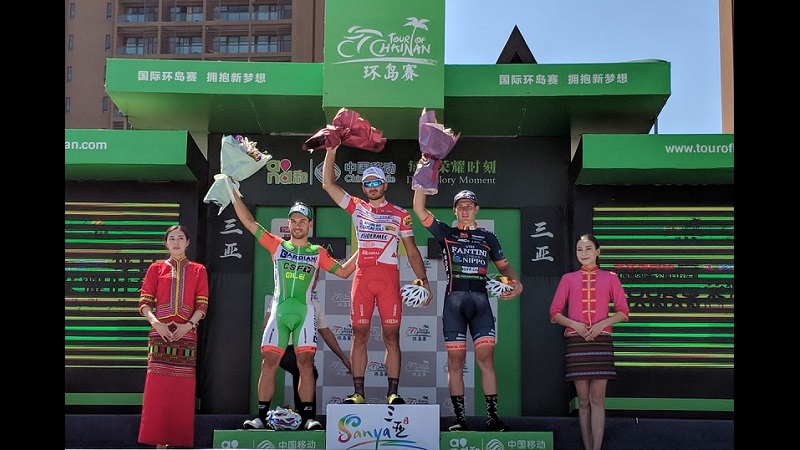 Tour of Hainan 2018 Benfatto vince la 7^ tappa con tre italiani alle sue spalle!