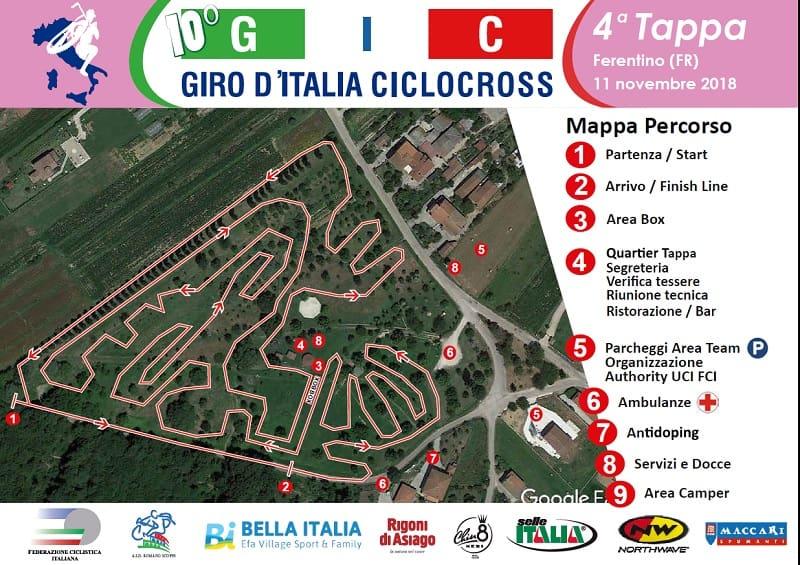 Giro d'Italia Ciclocross 2018 tappa 4 Ferentino percorso, programma e classifiche